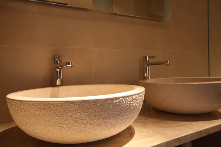 Hand Chipped Stone basins