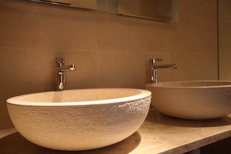 Hand Chipped Stone basins