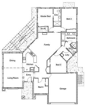Five Bedroom Home Plans- Five Bedroom Home Designs