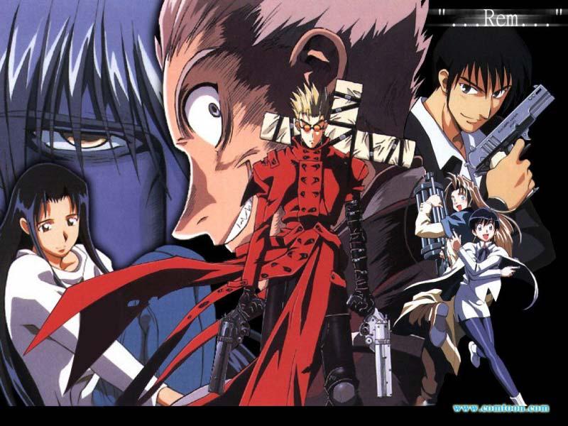 Animes [Não Yaoi] Para CHORAR! - Página 2 Trigun-rem-wallpaper