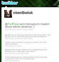 Screencap of Oben Budak's tweets