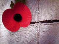 Wearing my poppy with pride for Remembrance Day