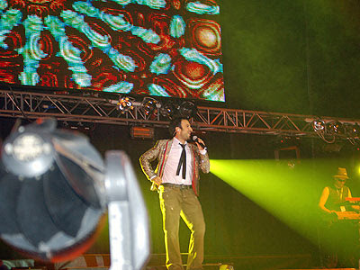 Tarkan on stage in Bulgaria