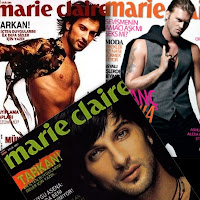 Tarkan and Kivanc Tatlitug on Marie Claire magazine covers