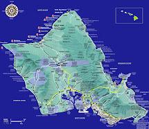 Tourist Map Oahu Hawaii