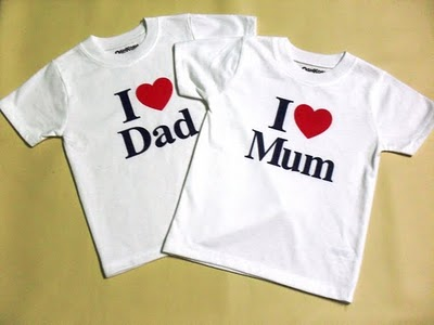 OSHKOSH I LOVE MOM & I LOVE DAD -BOYS-