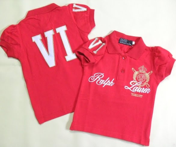RALPH LAUREN GIRLS SHIRT-RED