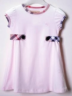 burberry simple&casual dress-light pink