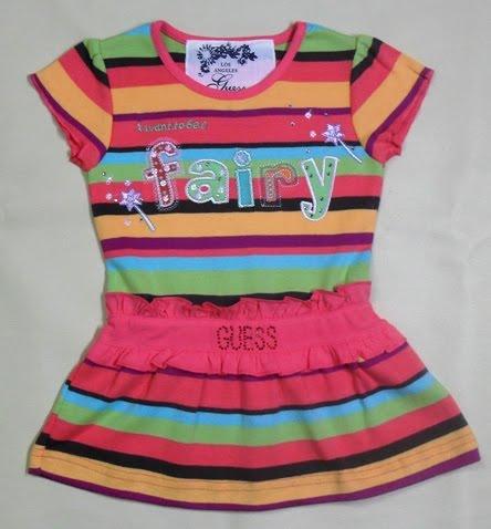 GUESS STRIPE FAIRY DRESS
