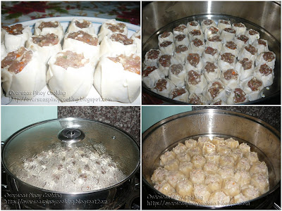 Siomai - Steaming Procedure