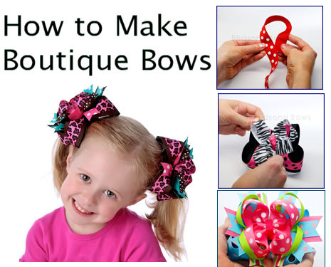 Full Bowmaking Tutorial Line is here! Includes Funky Loopy bows!