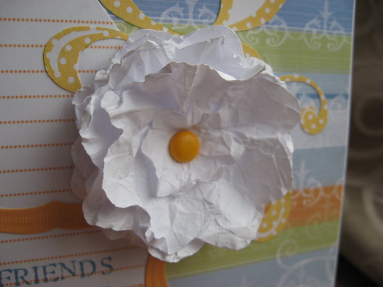 Suzie Mcfloozys Musings My Very 1st Homemade Paper Flower