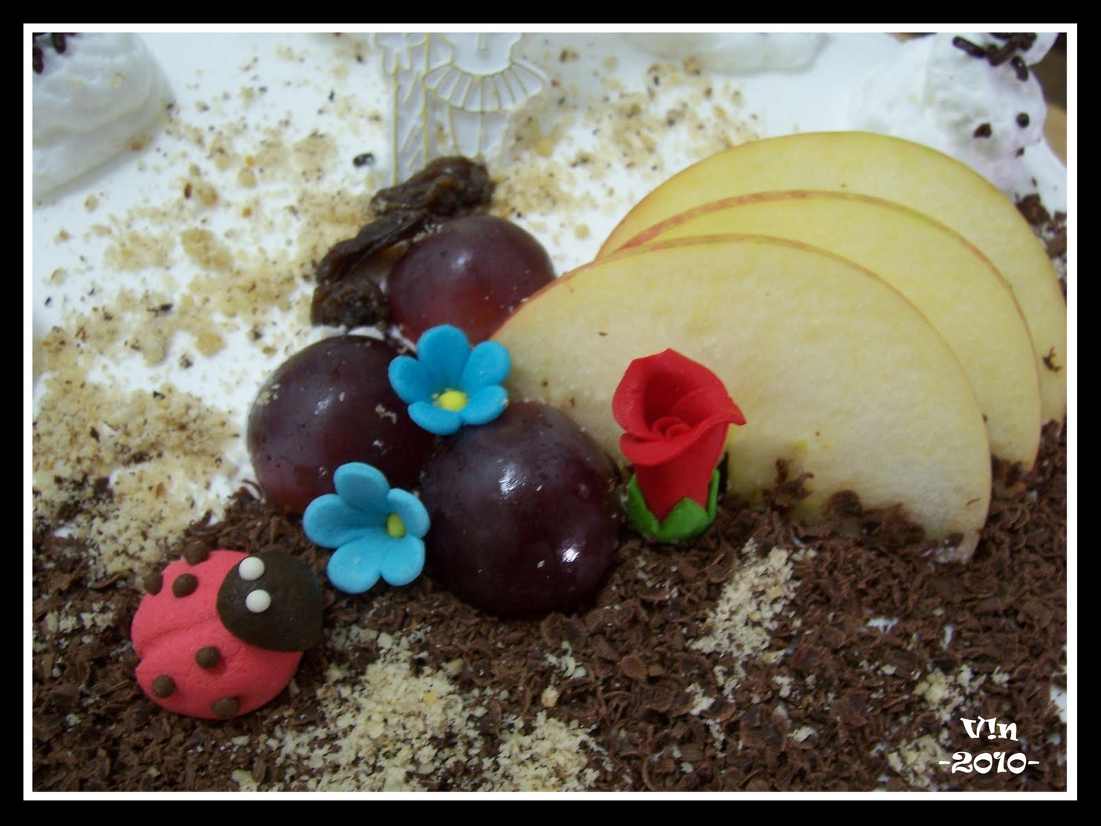 Homemade Cake Decoration Images : V!Nni3: Elise B day with my Homemade  Apple Dream Cake