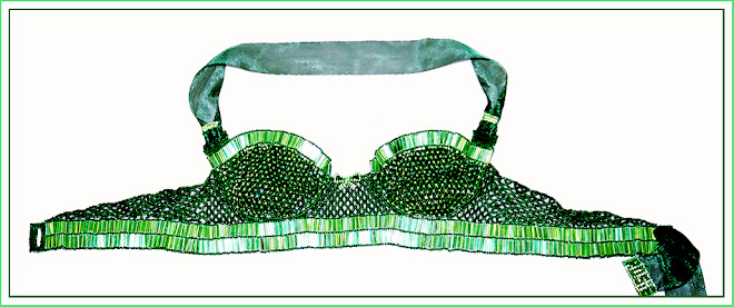 Green Envy - Beaded Bra Top