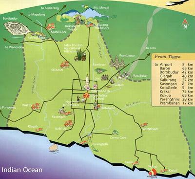 Maps Map Yogyakarta - Yogyakarta map
