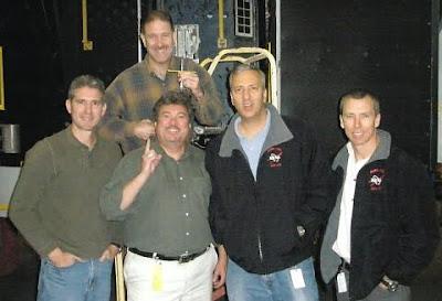 Mike Good, John Grunsfeld, Ed Rezac, Mike Massimino, Andrew Feustel