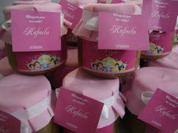 Potinhos de doce de leite tema Princesas -