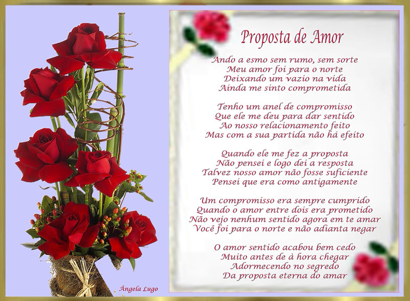 PROPOSTA DE AMOR