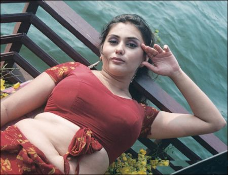 hot exposing stills of namitha at beach