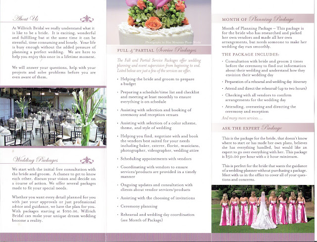 The willrich wedding planner 39 s blog our new brochure for Wedding planner brochure template