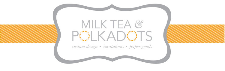 milk tea + polkadots