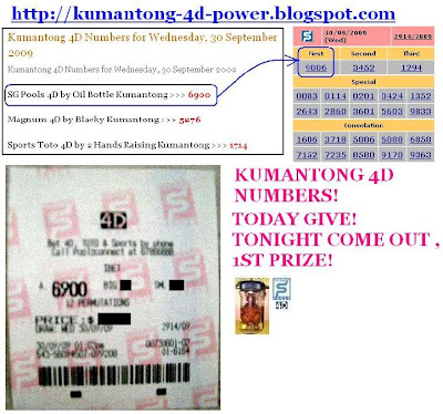 Kumantong 4D Power: Singapore 4D Prediction Tips by Oil Bottle ...