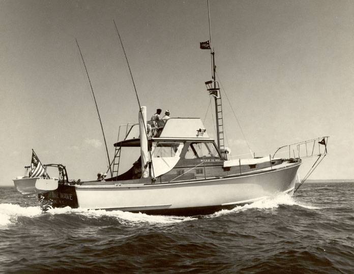 This sport fisherman was built and launched in 1960 by the Thomas