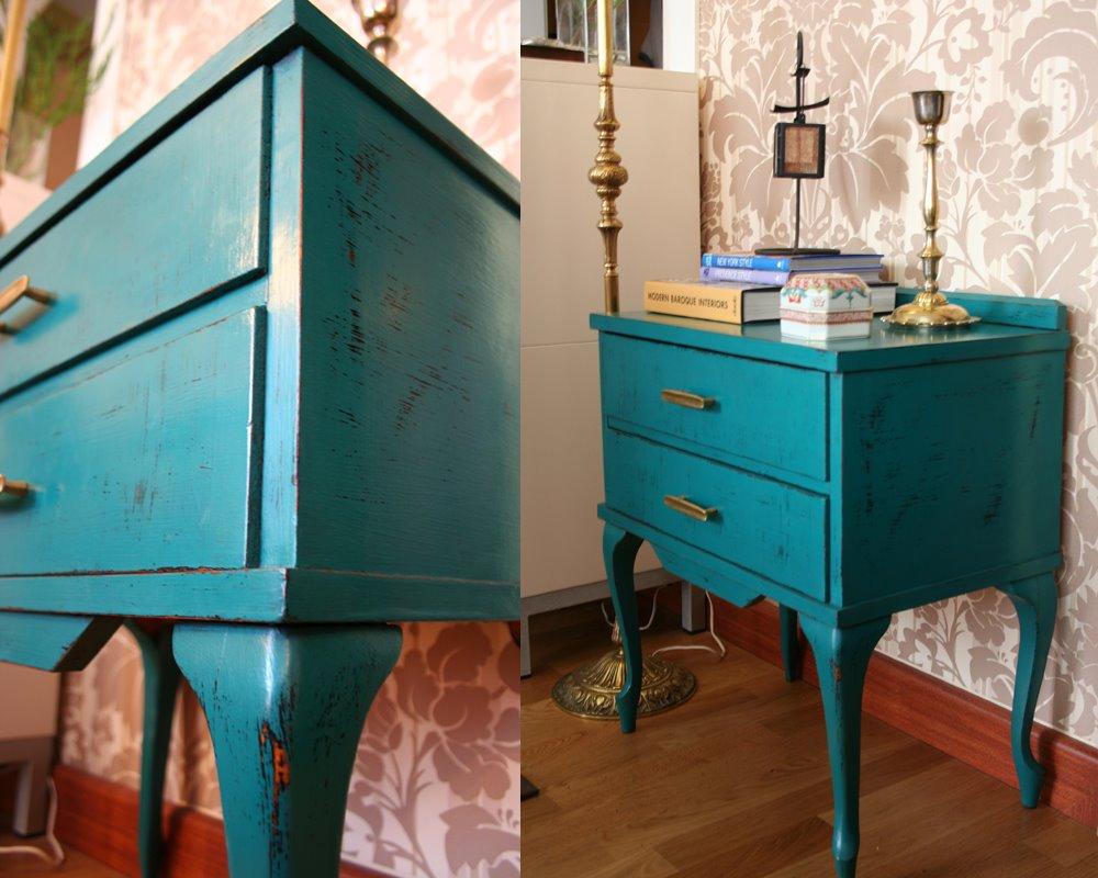 Mi nueva mesa auxiliar vintage my new vintage sidetable for Restauracion muebles vintage