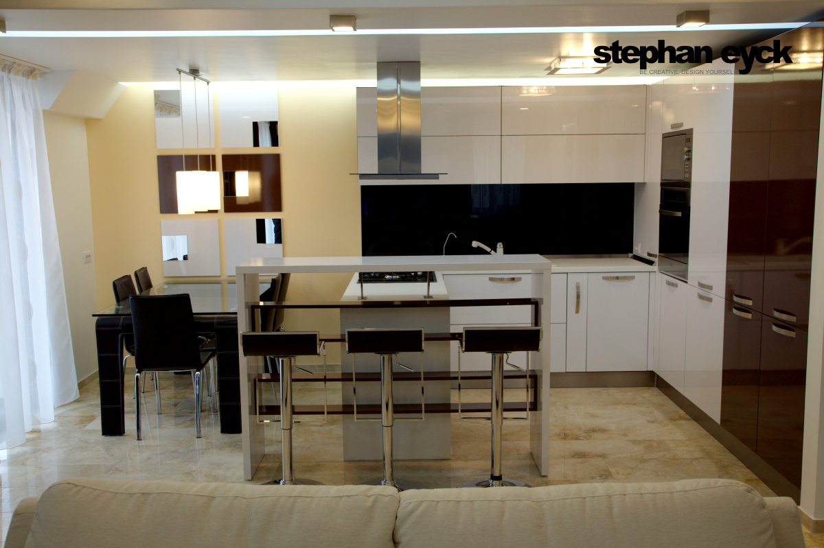 Design interior bucatarie apartament galati blocul doja for Dizain interior
