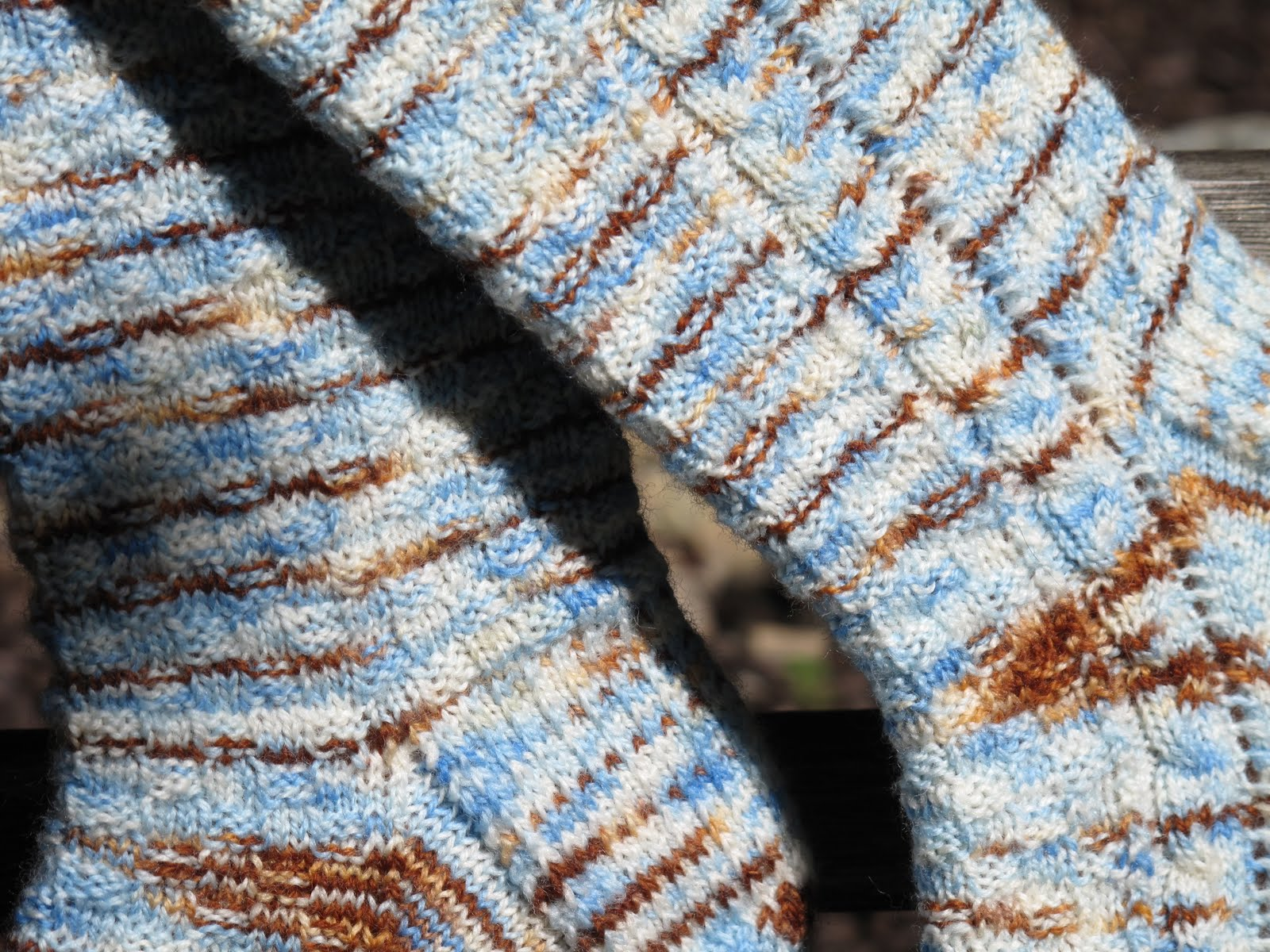 Pattern: Dorothy Gale Socks - fingering by Bethany Whitney Yarn: Dashing ...