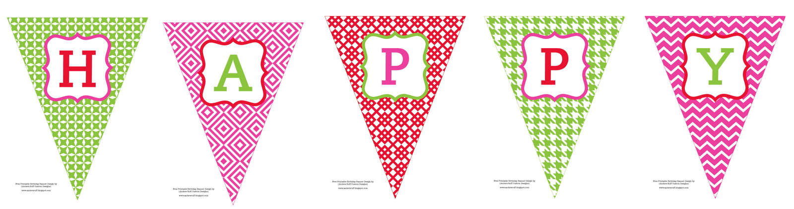 picture about Printable Happy Birthday Banner referred to as Absolutely free Printable: Satisfied Birthday Banner - Anders Ruff Custom made