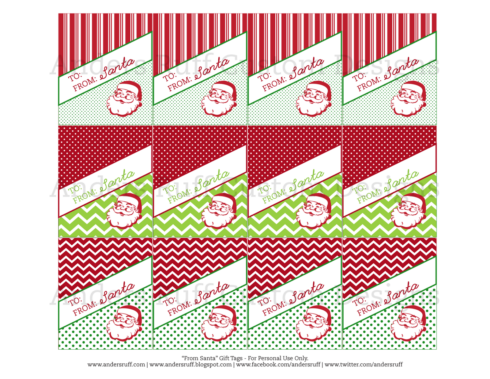 """... Designs: {New to the Shop} Printable Vintage """"From Santa"""" Gift Tags"""