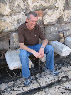 Dr. Yates is testing the public facilities at Beit She'an
