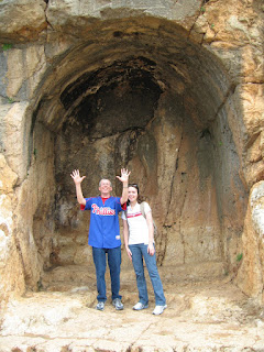 Dr. Yates and his daughter Erin in one of the idol niches