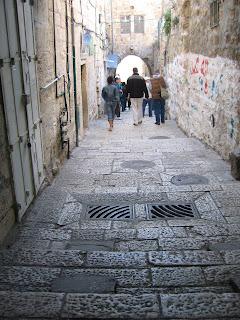 Along the streets of the Old City of Jerusalem