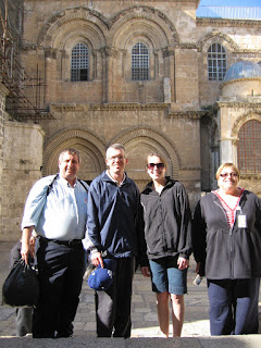 In front of the Church of the Holy Sepulcher