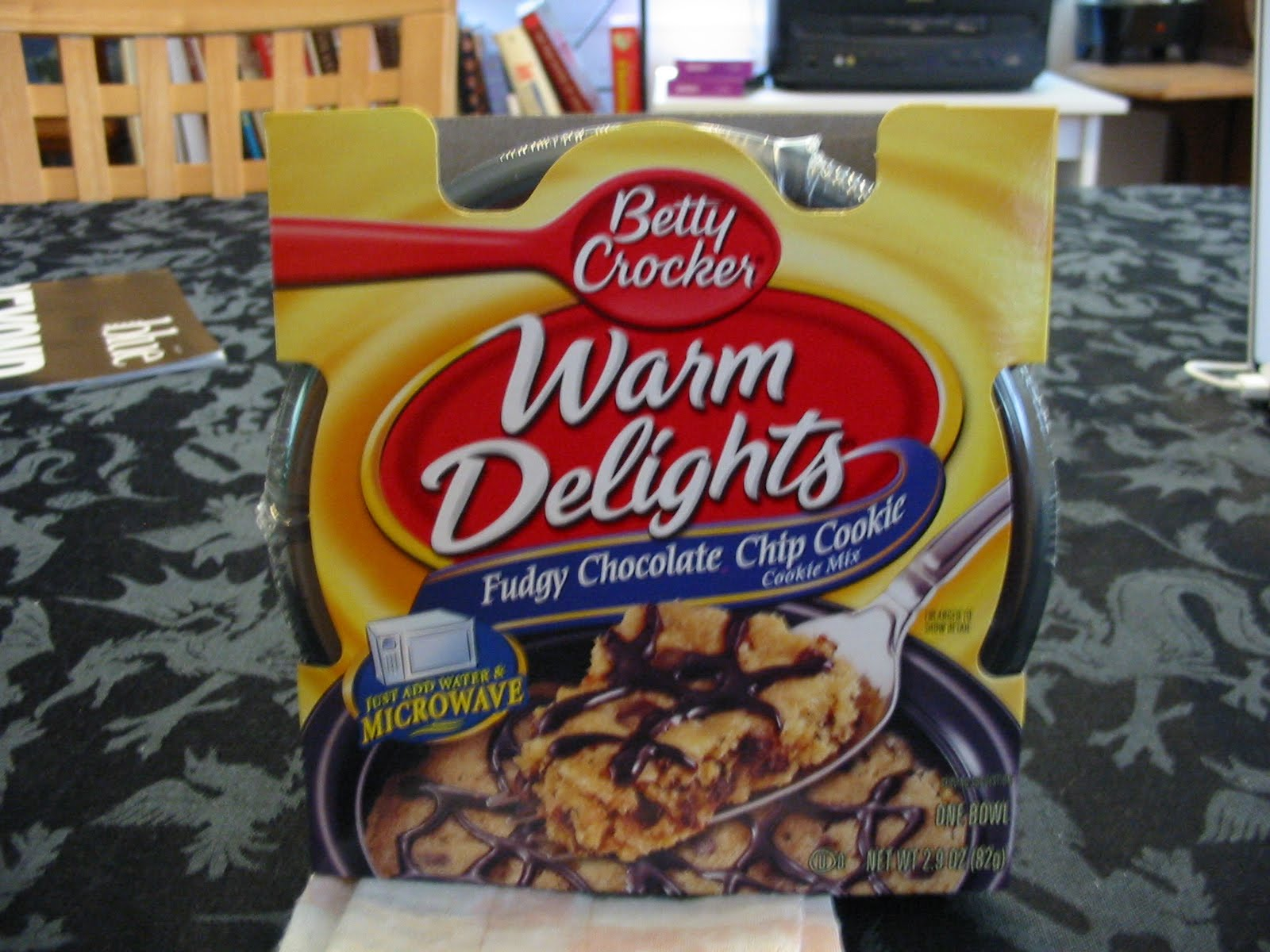 I Bought This Product The Fudgy Chocolate Chip Cookie Single Serving Microwavable Mix A While Back From Kroger When It Was On And Had