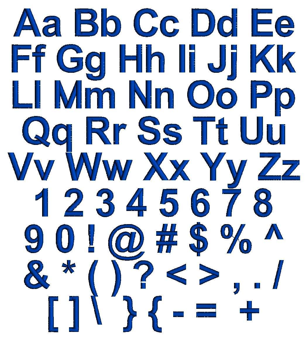SAME Monogram  Font Ch...