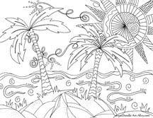 Abstract Doodle Art Coloring Pages