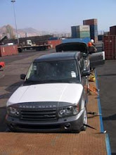 Los Ranger Rover llegan al Puerto de Antofagasta...