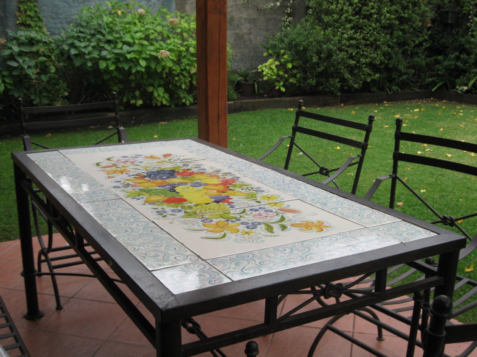 Arte mesa terraza de cer mica - Mesas de terraza ...
