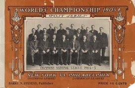 Programa da World Series, 1905