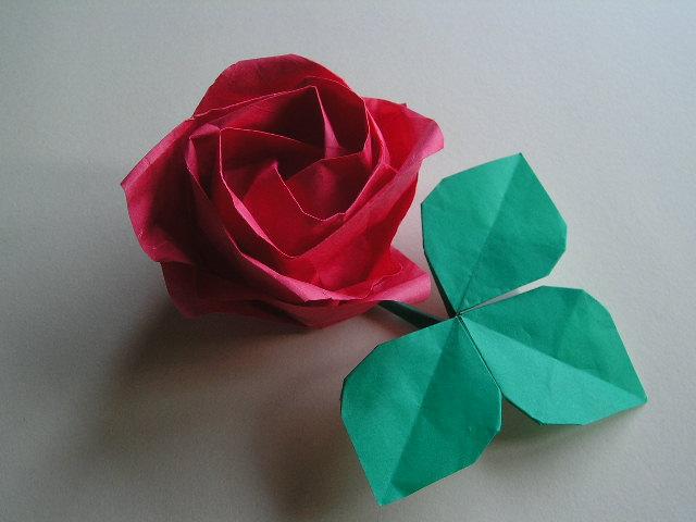 すべての折り紙 バラ作り方 折り紙 : 参考にしたのは『バラと折り紙 ...