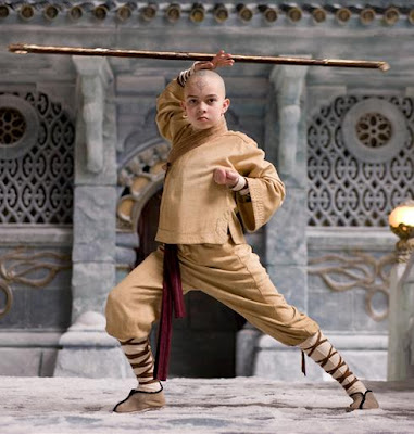 Noah Ringer as Aang - Last Airbender Movie