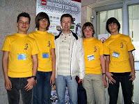 Наши участники олимпиады и идейный вдохновитель робототехники лицея А. Н. Березовский