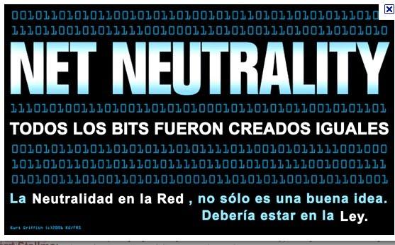 Neutralidad en la red, todos los bits fueron creados iguales