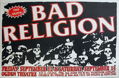 BAD RELIGION LIVE at OGDEN THEATRE POSTER