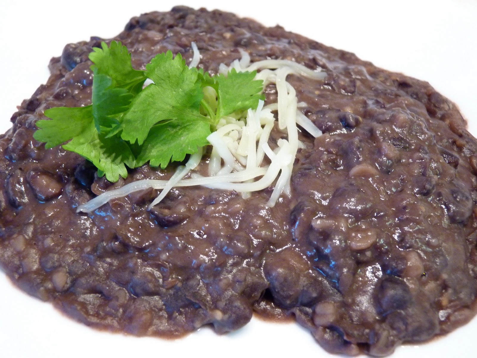Refried Black Beans Recipe — Dishmaps