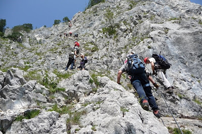 Klettersteig Mondsee : Steffs touren drachenwand m klettersteig