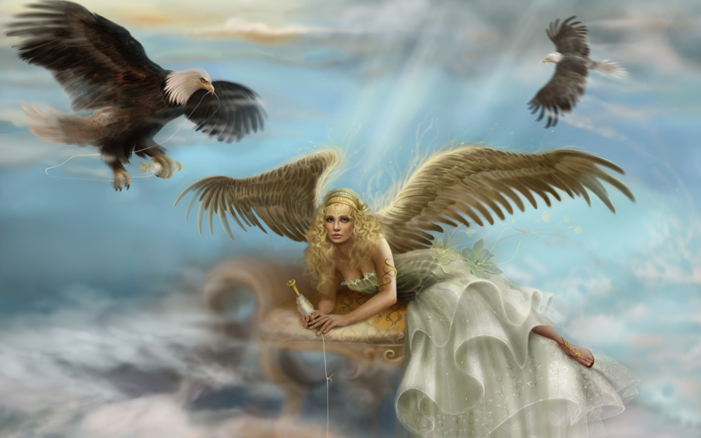 Consider, Beautiful fantasy angels valuable message